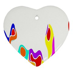 Simple Abstract With Copyspace Heart Ornament (two Sides) by Simbadda