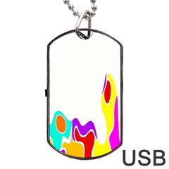 Simple Abstract With Copyspace Dog Tag Usb Flash (one Side) by Simbadda