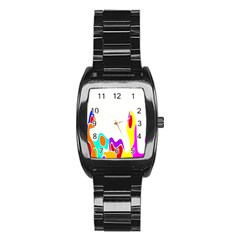 Simple Abstract With Copyspace Stainless Steel Barrel Watch by Simbadda