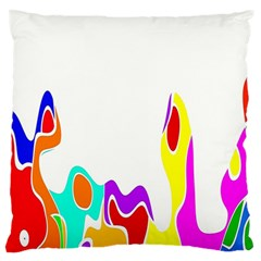 Simple Abstract With Copyspace Large Flano Cushion Case (one Side) by Simbadda