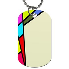 Digitally Created Abstract Page Border With Copyspace Dog Tag (two Sides) by Simbadda