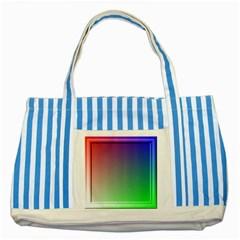 3d Rgb Glass Frame Striped Blue Tote Bag by Simbadda