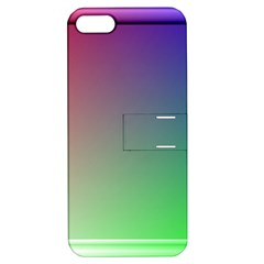 3d Rgb Glass Frame Apple Iphone 5 Hardshell Case With Stand by Simbadda