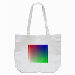 3d Rgb Glass Frame Tote Bag (white) by Simbadda