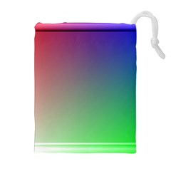 3d Rgb Glass Frame Drawstring Pouches (extra Large) by Simbadda