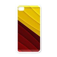 3d Glass Frame With Red Gold Fractal Background Apple Iphone 4 Case (white) by Simbadda