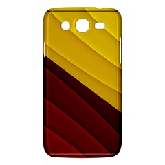 3d Glass Frame With Red Gold Fractal Background Samsung Galaxy Mega 5 8 I9152 Hardshell Case  by Simbadda