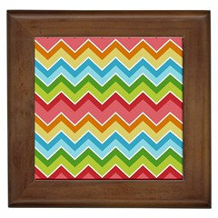 Colorful Background Of Chevrons Zigzag Pattern Framed Tiles by Simbadda
