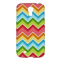 Colorful Background Of Chevrons Zigzag Pattern Samsung Galaxy S4 I9500/i9505 Hardshell Case by Simbadda