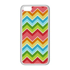 Colorful Background Of Chevrons Zigzag Pattern Apple Iphone 5c Seamless Case (white) by Simbadda