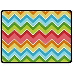 Colorful Background Of Chevrons Zigzag Pattern Double Sided Fleece Blanket (large)  by Simbadda