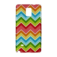 Colorful Background Of Chevrons Zigzag Pattern Samsung Galaxy Note 4 Hardshell Case by Simbadda
