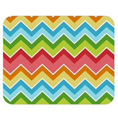 Colorful Background Of Chevrons Zigzag Pattern Double Sided Flano Blanket (medium)  by Simbadda