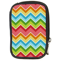 Colorful Background Of Chevrons Zigzag Pattern Compact Camera Cases by Simbadda