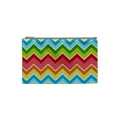 Colorful Background Of Chevrons Zigzag Pattern Cosmetic Bag (small)  by Simbadda