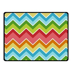 Colorful Background Of Chevrons Zigzag Pattern Fleece Blanket (small) by Simbadda