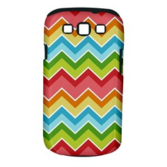 Colorful Background Of Chevrons Zigzag Pattern Samsung Galaxy S Iii Classic Hardshell Case (pc+silicone) by Simbadda