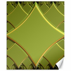 Fractal Green Diamonds Background Canvas 8  X 10  by Simbadda
