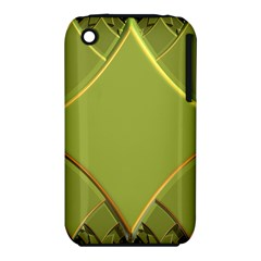 Fractal Green Diamonds Background Iphone 3s/3gs by Simbadda