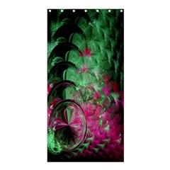 Pink And Green Shapes Make A Pretty Fractal Image Shower Curtain 36  X 72  (stall)  by Simbadda