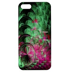 Pink And Green Shapes Make A Pretty Fractal Image Apple Iphone 5 Hardshell Case With Stand by Simbadda