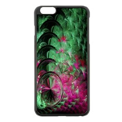 Pink And Green Shapes Make A Pretty Fractal Image Apple Iphone 6 Plus/6s Plus Black Enamel Case by Simbadda