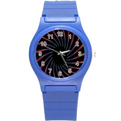 Fractal Black Hole Computer Digital Graphic Round Plastic Sport Watch (s) by Simbadda