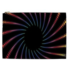 Fractal Black Hole Computer Digital Graphic Cosmetic Bag (xxl)  by Simbadda