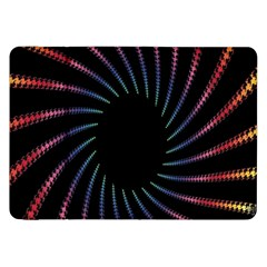 Fractal Black Hole Computer Digital Graphic Samsung Galaxy Tab 8 9  P7300 Flip Case by Simbadda
