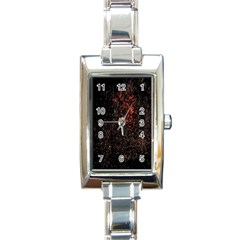 July 4th Fireworks Party Rectangle Italian Charm Watch by Simbadda