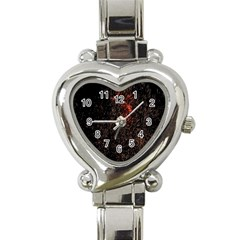 July 4th Fireworks Party Heart Italian Charm Watch by Simbadda