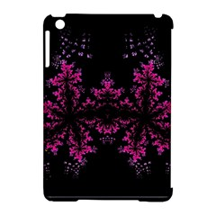 Violet Fractal On Black Background In 3d Glass Frame Apple Ipad Mini Hardshell Case (compatible With Smart Cover) by Simbadda