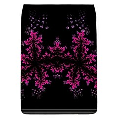 Violet Fractal On Black Background In 3d Glass Frame Flap Covers (s)  by Simbadda