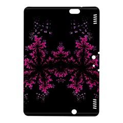 Violet Fractal On Black Background In 3d Glass Frame Kindle Fire Hdx 8 9  Hardshell Case by Simbadda