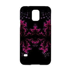 Violet Fractal On Black Background In 3d Glass Frame Samsung Galaxy S5 Hardshell Case  by Simbadda