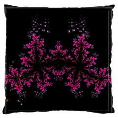 Violet Fractal On Black Background In 3d Glass Frame Standard Flano Cushion Case (two Sides) by Simbadda