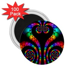 Fractal Drawing Of Phoenix Spirals 2 25  Magnets (100 Pack)  by Simbadda