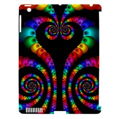 Fractal Drawing Of Phoenix Spirals Apple Ipad 3/4 Hardshell Case (compatible With Smart Cover) by Simbadda
