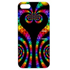 Fractal Drawing Of Phoenix Spirals Apple Iphone 5 Hardshell Case With Stand by Simbadda
