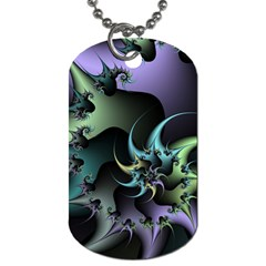 Fractal Image With Sharp Wheels Dog Tag (two Sides) by Simbadda