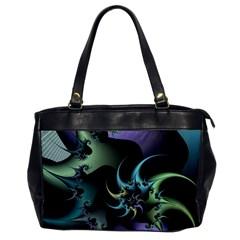 Fractal Image With Sharp Wheels Office Handbags by Simbadda