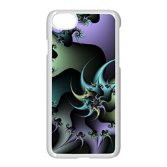 Fractal Image With Sharp Wheels Apple Iphone 7 Seamless Case (white) by Simbadda