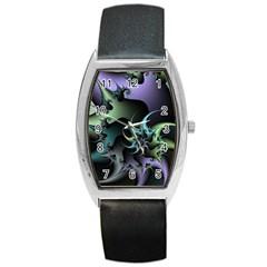 Fractal Image With Sharp Wheels Barrel Style Metal Watch by Simbadda