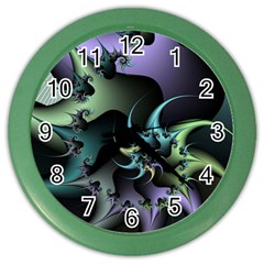 Fractal Image With Sharp Wheels Color Wall Clocks by Simbadda