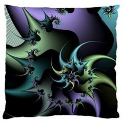 Fractal Image With Sharp Wheels Large Cushion Case (two Sides) by Simbadda