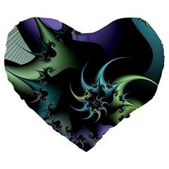 Fractal Image With Sharp Wheels Large 19  Premium Heart Shape Cushions by Simbadda