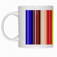 Stripes Colorful Striped Background Wallpaper Pattern White Mugs by Simbadda