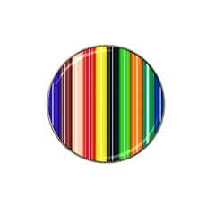 Stripes Colorful Striped Background Wallpaper Pattern Hat Clip Ball Marker (10 Pack) by Simbadda