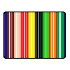 Stripes Colorful Striped Background Wallpaper Pattern Fleece Blanket (small) by Simbadda