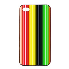 Stripes Colorful Striped Background Wallpaper Pattern Apple Iphone 4/4s Seamless Case (black) by Simbadda